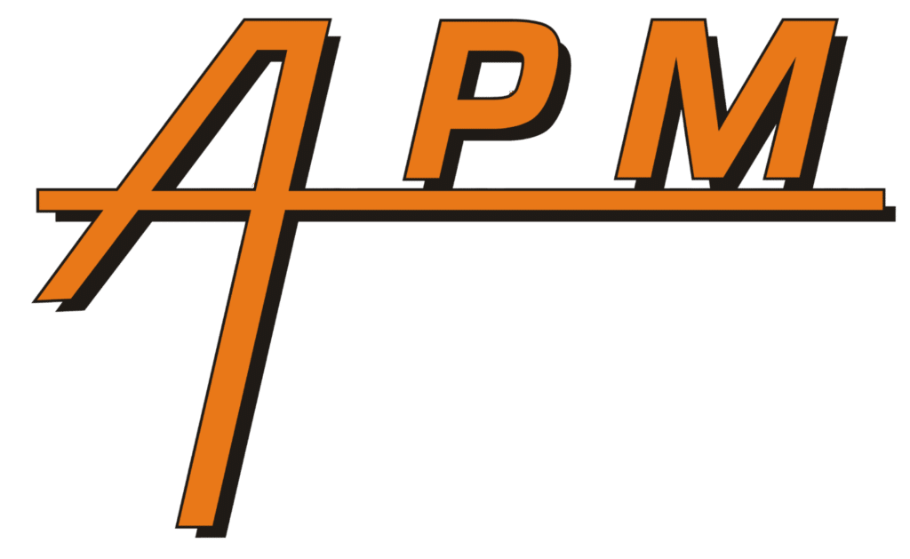 Logo APM ascenseur, porte de garage, monte-charge
